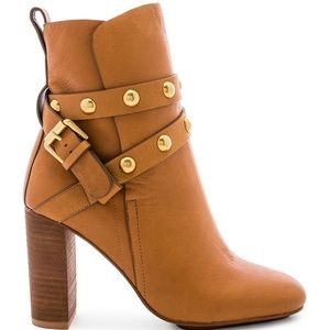 NEW See By Chloe Janis Bootie Brown & Gold 39